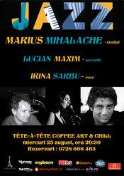 Concert extraordinar de jazz: MARIUS MIHALACHE, LUCIAN MAXIM si IRINA SARBU