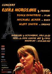 Concert de jazz cu Elena Morosanu & friends