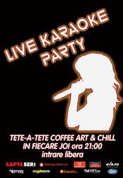 Live Karaoke Party in fiecare joi