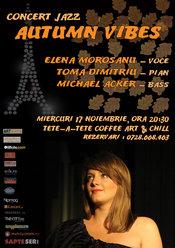 Concert de jazz - AUTUMN VIBES cu Elena Morosanu