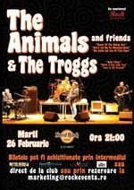 The Animals & The Troggs, in concert la Hard Rock Cafe