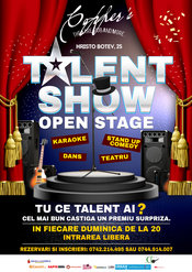 Open Stage: Karaoke,stand-up comedy,teatru, dans duminica 18 octombrie