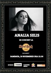 Concert Analia Selis @ Hard Rock Cafe