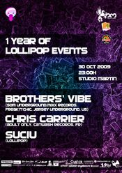 1 Year Of Lollipop Events - 30th Of October @ Studio Martin